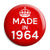 Made in 1964 - Keep Calm Birthday Year of Birth Pin Button Badge