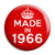 Made in 1966 - Keep Calm Birthday Year of Birth Pin Button Badge