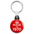 Made in 1970 - Keep Calm Birthday Year of Birth Key Ring