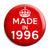 Made in 1996 - Keep Calm Birthday Year of Birth Pin Button Badge