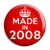 Made in 2008 - Keep Calm Birthday Year of Birth Pin Button Badge