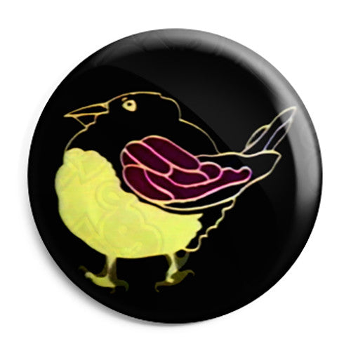 Magpie Bird - Kids Retro TV ITV Program - Button Badge
