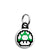 Super Mario - 8-Bit 1UP Green Mushroom Mini Keyring