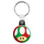 Super Mario Kart - Green and Red Mushroom Key Ring