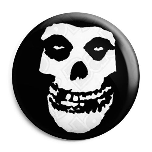 Misfits Skull Logo - Horror Punk Rock Band Pin Button Badge