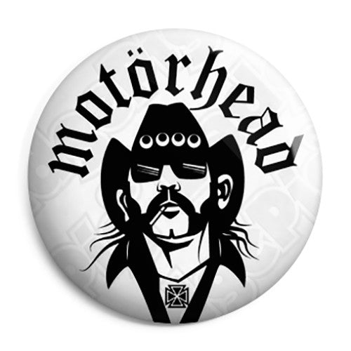 Motorhead - Lemmy Face Vector Drawing Button Badge