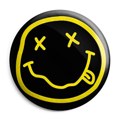 Nirvana Smiley - Kurt Cobain Grunge Button Badge