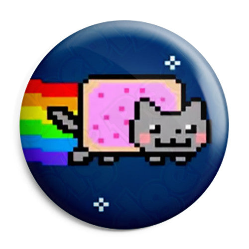 Nyan Pop Tart Cat - Internet Meme Geek Pin Button Badge