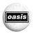 Oasis Bar Logo - Liam and Noel Gallagher Britpop Button Badge