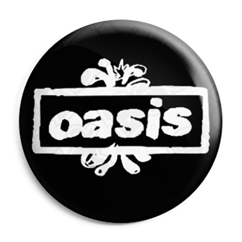 Oasis Splash Logo - Liam and Noel Gallagher Britpop Button Badge