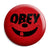 Obey Mickey Mouse Smiley Disney Logo - Button Badge