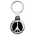 Pray for Paris Peace Sign - Eiffel Tower Logo Key Ring