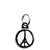 Pray for Paris Peace Sign - Eiffel Tower Logo Mini Keyring