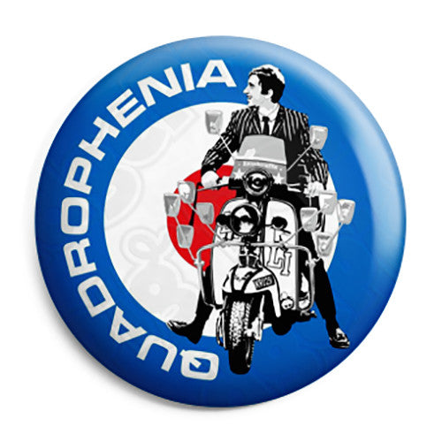 Quadrophenia Mod Target - The Who Film Button Badge