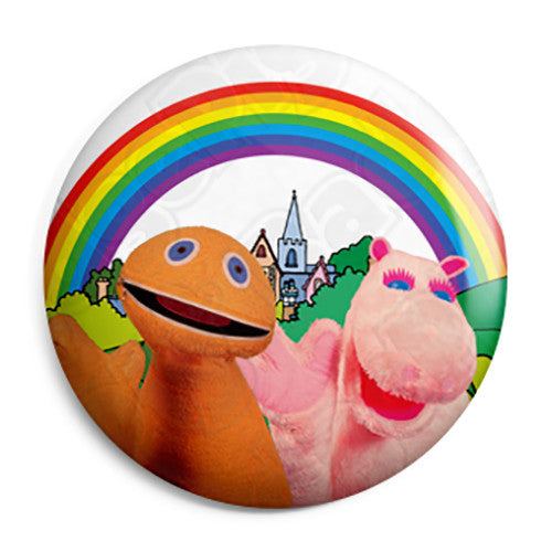 Rainbow - Kids Retro TV ITV Program - Button Badge