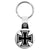 Square Iron Cross - Biker Key Ring