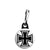 Square Iron Cross - Biker Zipper Puller