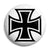 Square Iron Cross - Biker Button Badge