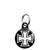 Square Iron Cross - Biker Mini Keyring
