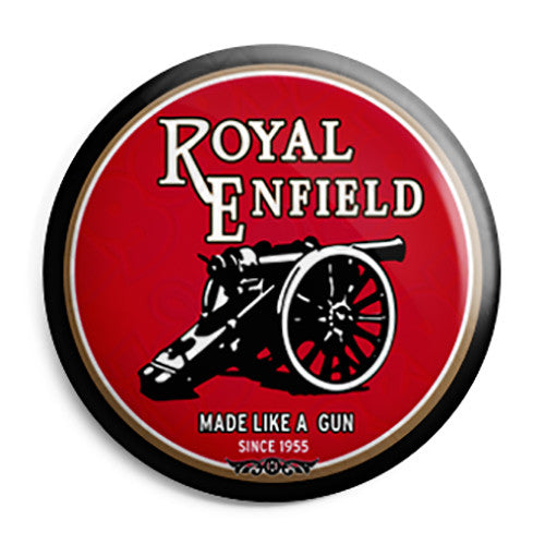 Royal Enfield - Made Like a Gun Vintage Button Badge