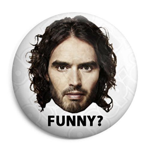 Russell Brand rustyrockets - Is He Funny Button Badge