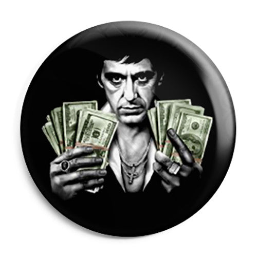 Scarface Film - Money Stash - Button Badge