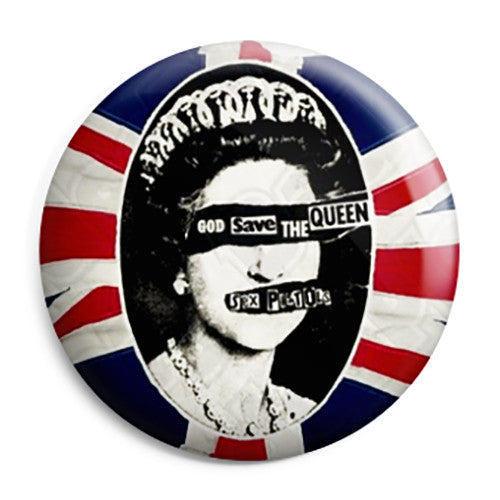 The Sex Pistols - God Save The Queen Punk Pin Button Badge