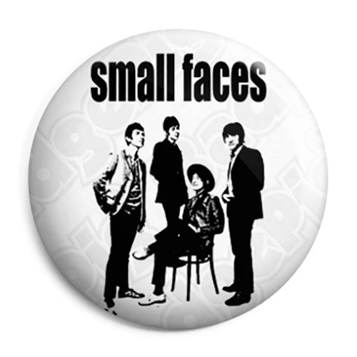 Small Faces Group Photo - 60's Mod Button Badge