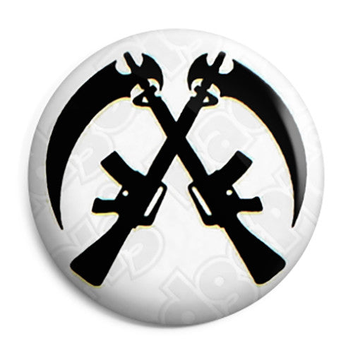 Sons of Anarchy - Reaper Crossed Guns Button Badge