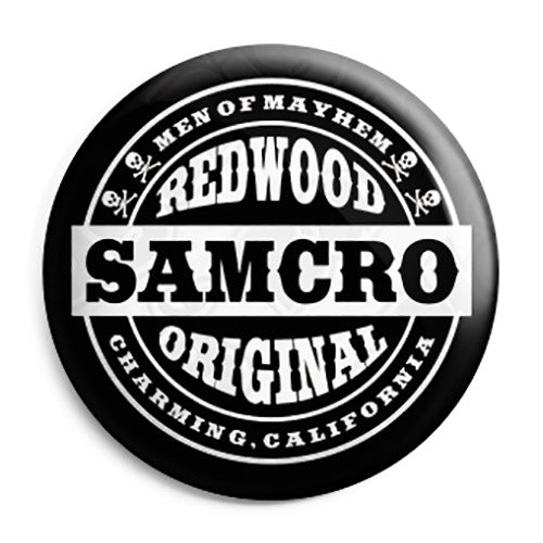 Sons of Anarchy - SAMCRO Men of Mayhem Button Badge