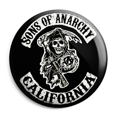 Sons of Anarchy - SAMCRO Biker Club Patch Button Badge
