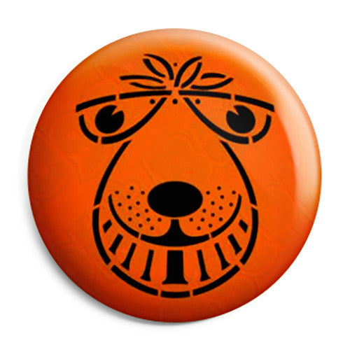 Space Hopper Face - 70's, 80's Retro Button Badge