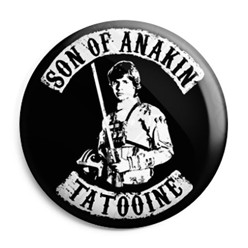 Star Wars - Sons of Anarchy Luke Skywalker Button Badge