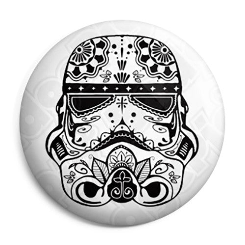 Star Wars - Stormtrooper Mexican Sugar Skull Button Badge