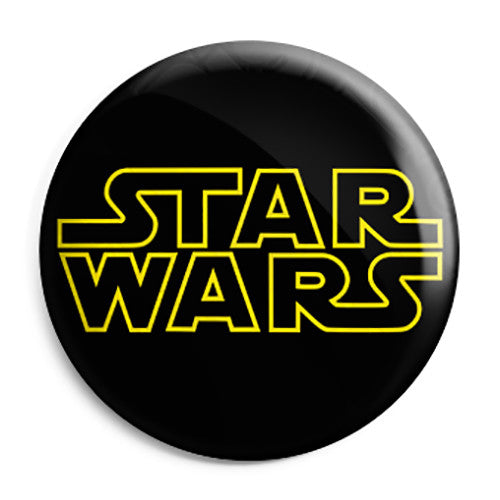Star Wars - Film Movie Screen Title Logo Button Badge