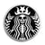 Starbucks Coffee Skull - Horror Button Badge
