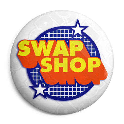 Swap Shop Logo - Kids Retro TV BBC Program - Button Badge