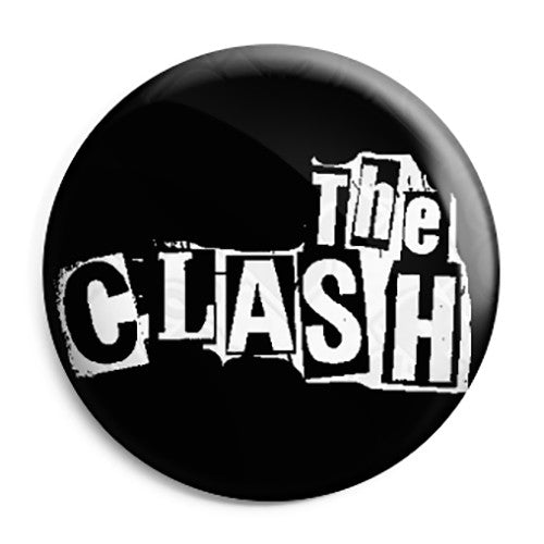 The Clash - Letter Logo - Punk Rock - Button Badge