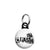 The Clash - Letter Logo - Punk Rock - Mini Keyring