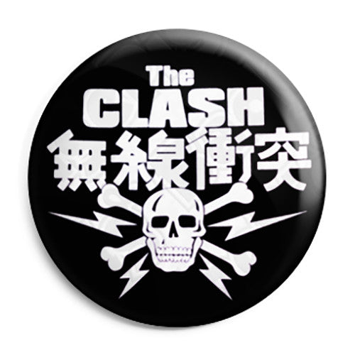 The Clash - Skull Logo - Punk Rock - Button Badge