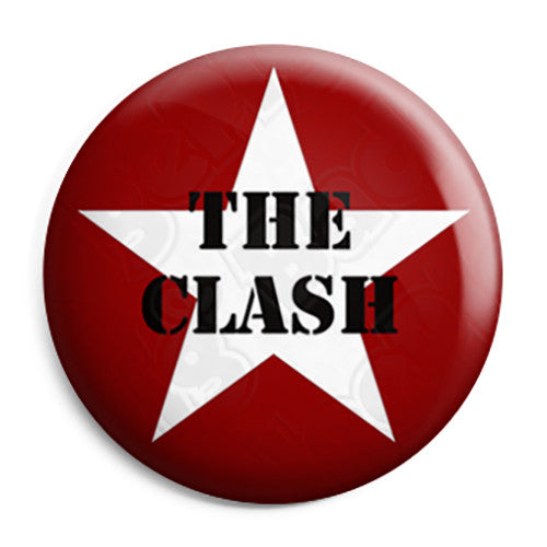The Clash - Star Logo - Punk Button Badge