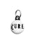 The Cure Band Logo - Goth and Emo Mini Keyring
