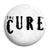 The Cure Band Logo - Goth and Emo Button Badge