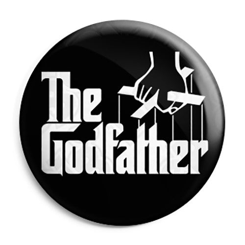 The Godfather - Film Movie Book Novel Logo Pin Button Badge