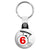 The Prisoner - Number 6 Bicycle Logo Retro TV Key Ring