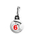 The Prisoner - Number 6 Bicycle Logo Retro TV Zipper Puller