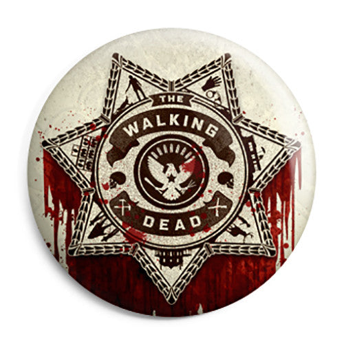 The Walking Dead - Ricks Bloody Police Cop Pin Button Badge