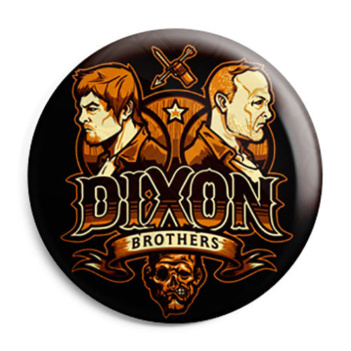 The Walking Dead TV Show  - Dixon Brothers Pin Button Badge
