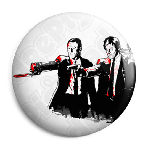 The Walking Dead - Pulp Fiction Dixon Brothers Pin Button Badge