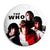 The Who - Group Union Jack Flag Photo - Mod Button Badge